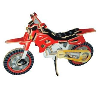 Puzzle a hlavolamy - 3D Puzzle barevné - Terénní motorka