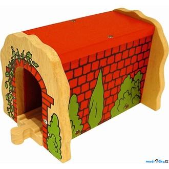 Vláčkodráhy - Vláčkodráha tunely - Tunel červený cihlový (Bigjigs)