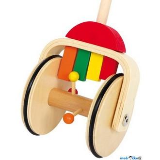 Dřevěné hračky - Jezdík na tyči - Klepající xylofon (Legler)