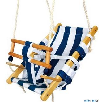 Na ven a sport - Houpačka - Pro nejmenší děti, modrobílá (Legler)