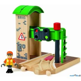 Vláčkodráhy - Vláčkodráha budovy - Signální stanice s výhybkou (Brio)