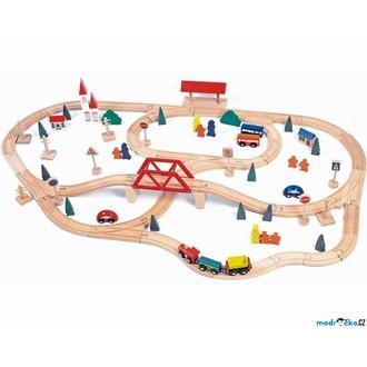 Vláčkodráhy - Vláčkodráha Woody - S mostem a nádražím, 90 dílů