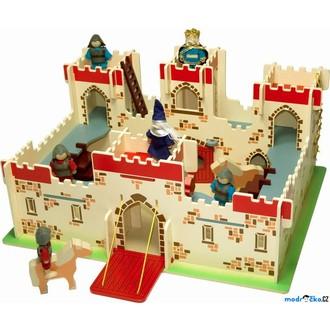 Dřevěné hračky - Hrad dřevěný - Hrad krále Artuše (Bigjigs)