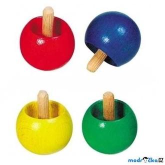 JIŽ SE NEPRODÁVÁ - Drobné hračky - Káča dřevěná, Obracecí, 1ks (Goki)