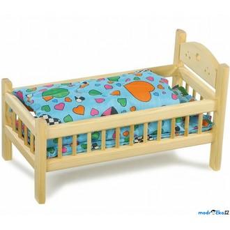 Dřevěné hračky - Postýlka pro panenky - Přírodní s peřinkami (Legler)