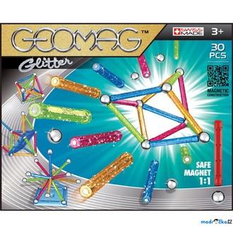 Stavebnice - Geomag - Glitter, 30 ks
