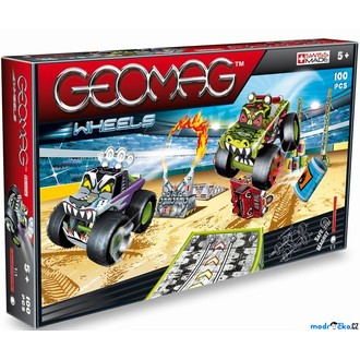 Stavebnice - Geomag - Wheels 707, Monster Truck Show, tři auta, 100 dílků