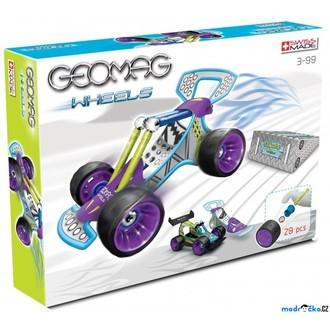 JIŽ SE NEPRODÁVÁ - Geomag - Wheels Race 2, dvě auta, 29 dílků