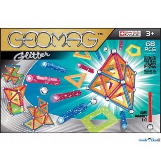 Stavebnice - Geomag - Glitter, 68 ks