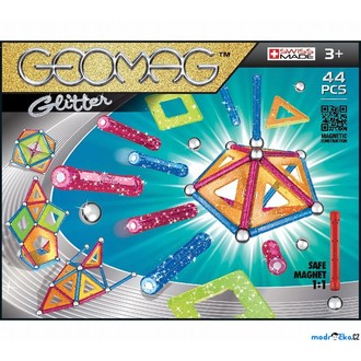 Stavebnice - Geomag - Glitter, 44 ks