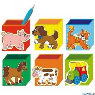 Dřevěné hračky - Stojánek na tužky - Krabička na tužky, 1ks (Woody)