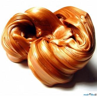 Nedřevěné hračky - Inteligentní plastelína - metalická, Třpytivý bronz