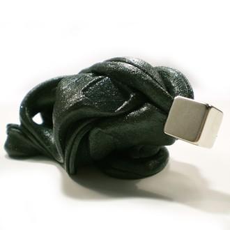 Nedřevěné hračky - Inteligentní plastelína - supermagnetická, Černá