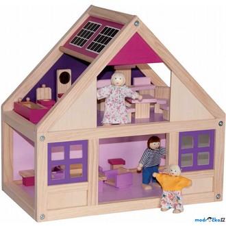 JIŽ SE NEPRODÁVÁ - Domeček pro panenky - S vybavením, Trendy (Woody)