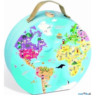 JIŽ SE NEPRODÁVÁ - Puzzle z kartónu - Naše modrá planeta, 208 dílků (Janod)