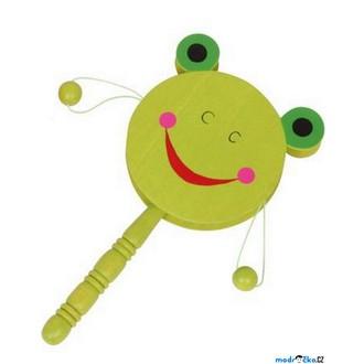 JIŽ SE NEPRODÁVÁ - Hudba - Bubínek s rukojetí, Žába zelená (Legler)
