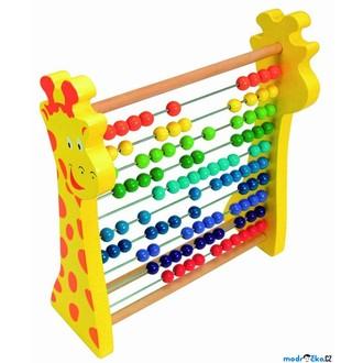 Dřevěné hračky - Počítadlo - Žirafa rainbow (Woody)