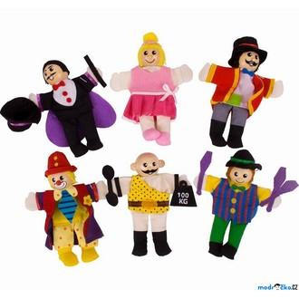Dřevěné hračky - Prstoví maňásci - Cirkus set, 6ks (Bigjigs)