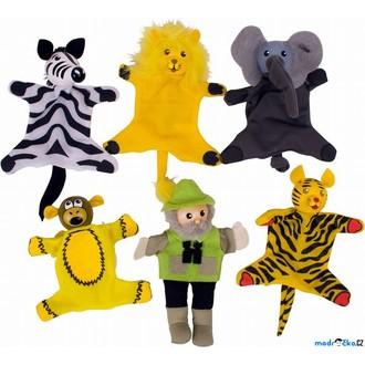 Dřevěné hračky - Prstoví maňásci - Safari set, 6ks (Bigjigs)