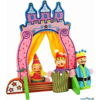Dřevěné hračky - Divadlo - Stolní pro prstové maňásky (Bigjigs)