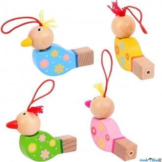 Dřevěné hračky - Hudba - Píšťalka, Dřevěný ptáček, 1ks (Bigjigs)