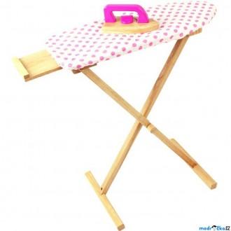Dřevěné hračky - Hospodyňka - Dřevěné žehlicí prkno se žehličkou (Bigjigs)
