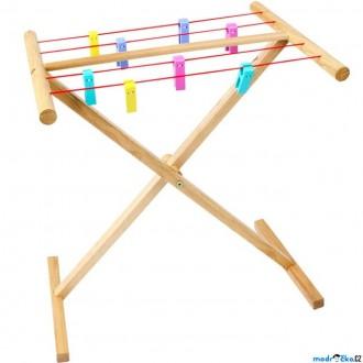 Dřevěné hračky - Hospodyňka - Dřevěný sušák na prádlo (Bigjigs)