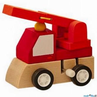 JIŽ SE NEPRODÁVÁ - Auto - Natahovací autíčko, Červené požární (Woody)