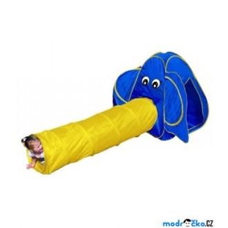 Ostatní hračky - Dětský domeček - Prolézací stan slon (Bino)