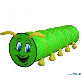 Ostatní hračky - Dětský domeček - Prolézačka tunel, Housenka zelená (Bino)