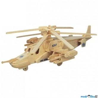 Puzzle a hlavolamy - 3D Puzzle přírodní - Helikoptéra KA-50