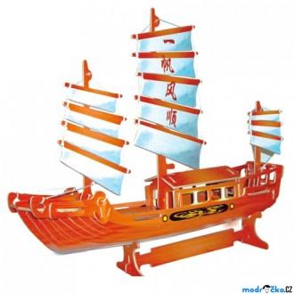 Puzzle a hlavolamy - 3D Puzzle barevné - Čínská plachetnice