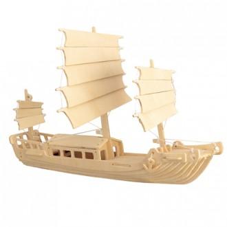 Puzzle a hlavolamy - 3D Puzzle přírodní - Čínská plachetnice