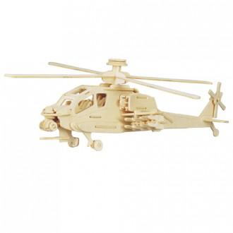 Puzzle a hlavolamy - 3D Puzzle přírodní - Helikoptéra Apache