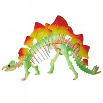 Puzzle a hlavolamy - 3D Puzzle barevné - Stegosaurus