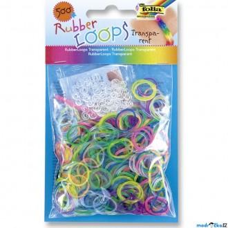 JIŽ SE NEPRODÁVÁ - Gumičky pletací - Rubber Loops, Transparentní, 500ks (Folia)