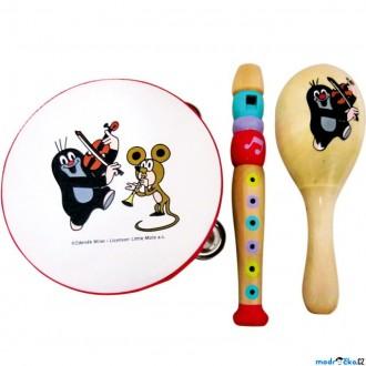Dřevěné hračky - Hudba - Muzikální set, Krtek, 3 nástroje (Bino)