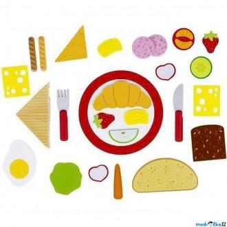 Dřevěné hračky - Moje první restaurace – Snídaně podle jídelního lístku, 26 dílů (Goki)