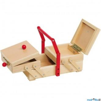 Dřevěné hračky - Hospodyňka - Skříňka na šicí potřeby (Goki)