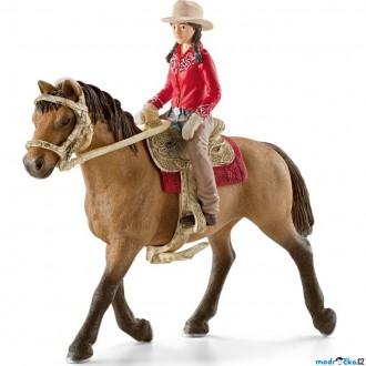 Nedřevěné hračky - Schleich - Kůň s jezdcem, Westernová jezdkyně na koni