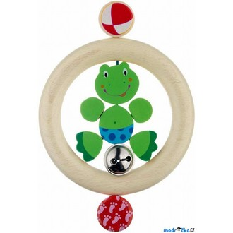 Pro nejmenší - Chrastítko - Kroužek do ruky, Žabka s rolničkou (Heimess)