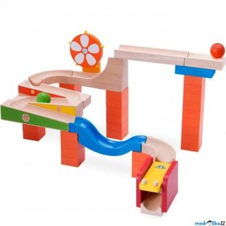 Dřevěné hračky - Kuličková dráha TRIX - Svítící kolo (Wonderworld)