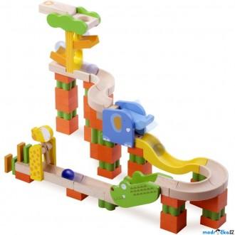 Dřevěné hračky - Kuličková dráha TRIX - Safari (Wonderworld)