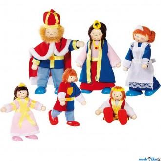 Dřevěné hračky - Panenky do domečku - Královská rodina, 6ks (Goki)