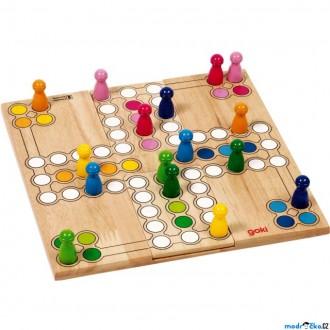 Dřevěné hračky - Člověče, nezlob se - Přizpůsobivé dřevěné (Goki)
