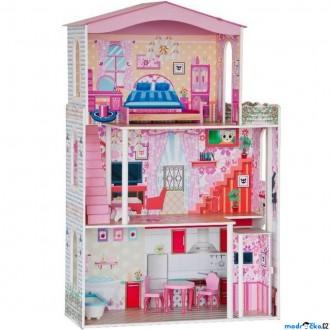 Dřevěné hračky - Domeček pro panenky - Velký s nábytkem pro Barbie (Woody)