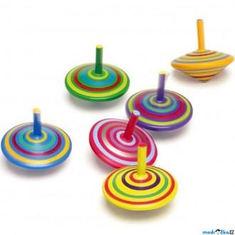 Dřevěné hračky - Drobné hračky - Káča dřevěná, Pruhovaná, 1ks (Legler)