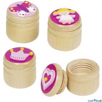 Dřevěné hračky - Dřevěná krabička na první zoubky - Pro holky, 1ks (Goki)