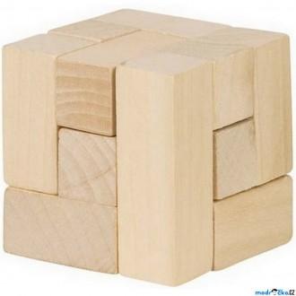 Puzzle a hlavolamy - Hlavolam dřevěný - Kostka 3D (Goki)