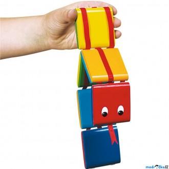 Dřevěné hračky - Drobné hračky - Nekonečný had, Barevný (Goki)
